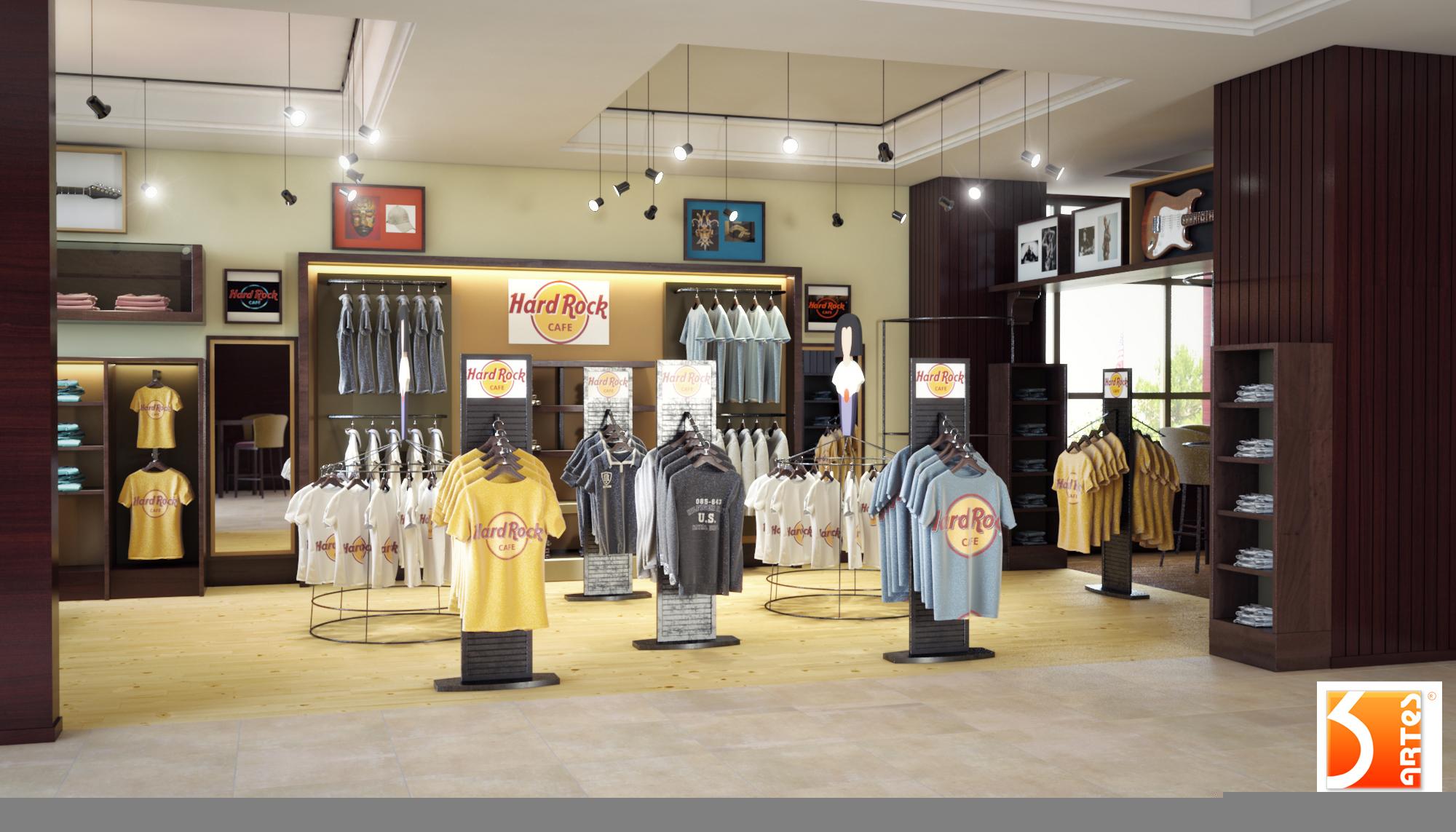 3D Hard Rock Madrid Shop