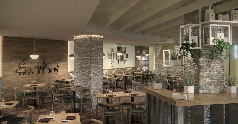 3D Restaurante 5J Padre Damian Sala